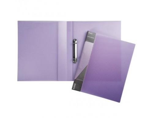 Папка 2 кольца Hatber DIAMOND полупрозрачная Фиолетов